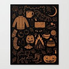 Autumn Nights: Halloween Canvas Print
