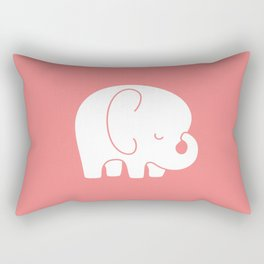 Mod Baby Elephant Coral Rectangular Pillow