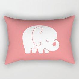 Mod Baby Elephant Coral Rectangular Pillow