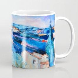 Olive trees, blue hills and lavender Coffee Mug