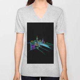 Vibrant city 2 Unisex V-Neck