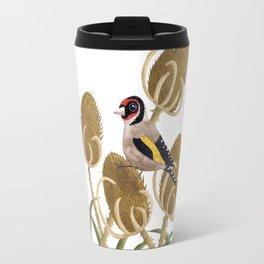 Goldfinch on Teasels Travel Mug