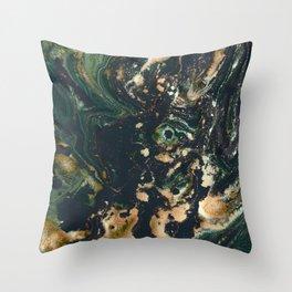 Fluid Gold Series II Throw Pillow