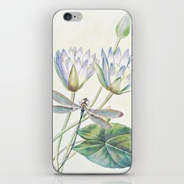 lotus and dragonfly iPhone Skin
