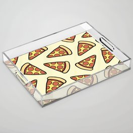Pepperoni Pizza Pattern Acrylic Tray