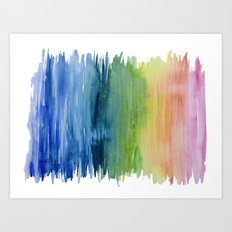 Fade Into Rainbows Art Print