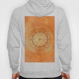 Watercolor Mandala Pattern Orange Hoody