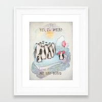 weird Framed Art Prints featuring Weird by Tatiana Ivchenkova