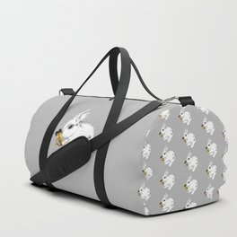 Some'bunny' Loves You (Single Bunny/Grey) Duffle Bag