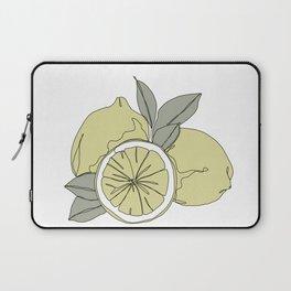 Botanical fruit illustration line drawing - Lemons Laptop Sleeve