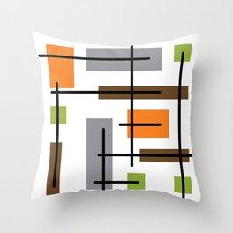 Mid Century Modern Cubicle Art Throw Pillow