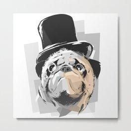 Business Pug Metal Print