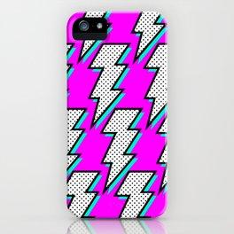Purple Lightening iPhone Case