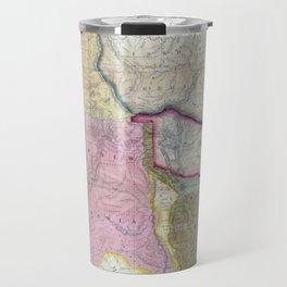 Vintage Map of The Western United States (1846) Travel Mug