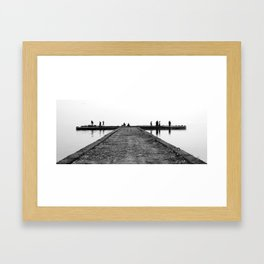 Forgetting the horizon Framed Art Print