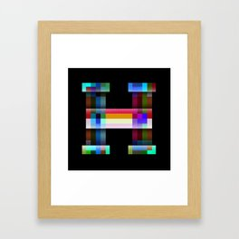 H like Hue and Saturation Framed Art Print