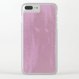 Pink & Pink & Pink & Purple Clear iPhone Case