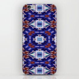 A Little Bit Country Blue Floral Pattern iPhone Skin