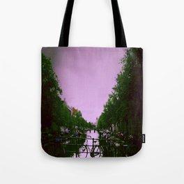 Amsterdam , purple city Tote Bag