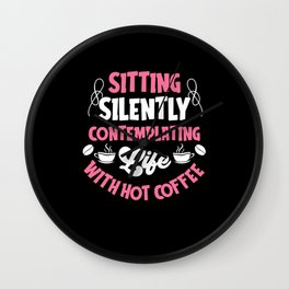Coffee Shirt Hoodie Women Wall Clock