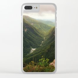 Canyon of Waterfalls Clear iPhone Case