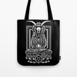 Baphomet Tranquility Stippling Tote Bag