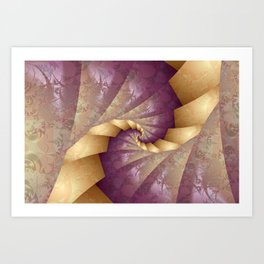 Origami Tenderness Art Print
