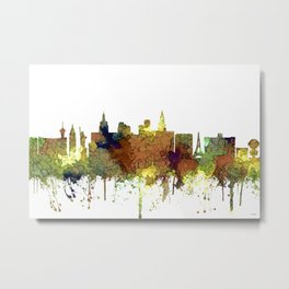 Las Vegas Skyline - Safari Buff Metal Print