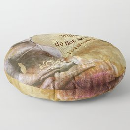 Buddha - Peace Comes From Within Floor Pillow