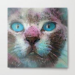 Aquarius Cat Metal Print