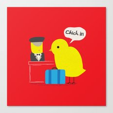 Chick in! Canvas Print