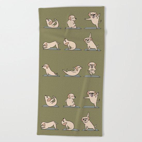 Labrador Retriever Yoga Beach Towel