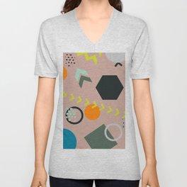 COlorful trendy seamless pattern Unisex V-Neck