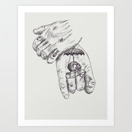 The Hands of... Art Print