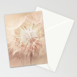 Pink Dandelion Flower - Floral Nature Photography Art and Accessories Stationery Cards