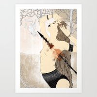 Lance and Doves Art Print