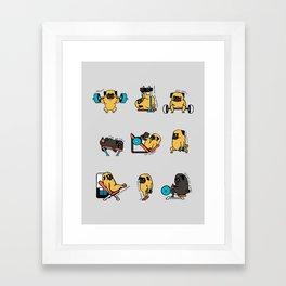 Leg Day with The Pug Framed Art Print