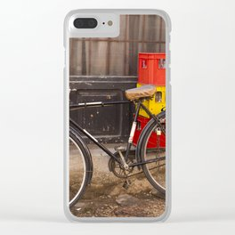 Worn Bicycle Clear iPhone Case