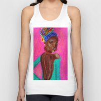 african Tank Tops featuring African by Ksuhappy
