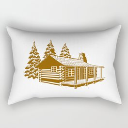 A Cabin in the Woods Rectangular Pillow