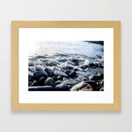 Caribbean beach Framed Art Print