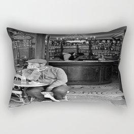 At the Cafe Rectangular Pillow