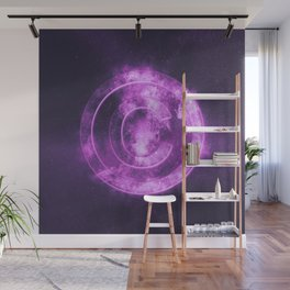 Copyright symbol. Abstract night sky background Wall Mural