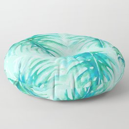Paradise Palms Mint Floor Pillow