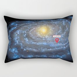 You are here: Milky Way map, Earth Rectangular Pillow
