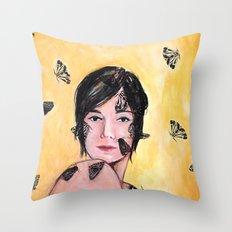 Attraction/Repulsion {Moths} Throw Pillow
