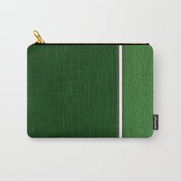 Two-tones Green Leather Carry-All Pouch