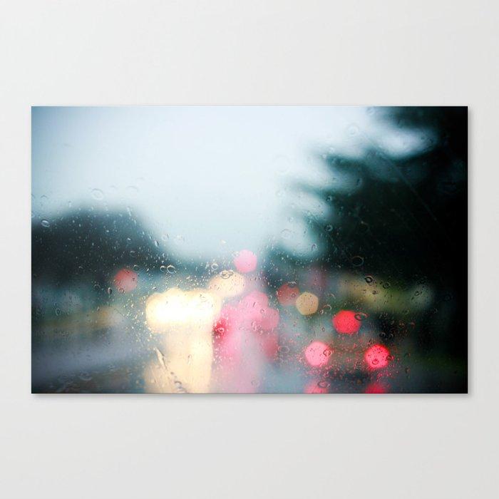 With Rainy Eyes Canvas Print