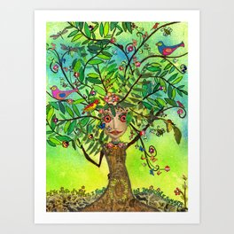 """Tree of Life"" Original Journal Art by Peri Allen Art Print"