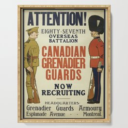 Vintage poster - Canadian Grenadier Guards Serving Tray